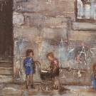 children-by-a-tenement-wall-1961_24x30